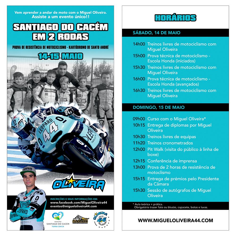 MO Santiago do Cacém em 2 rodas flyer 20x9,5cm